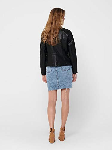 Only ONLMELISA Faux Leather Jacket CC OTW Chaqueta, Black, M para Mujer