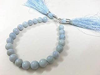 Beads Gemstone Natural Peruvian Blue Opal,Blue Opal Round Ball,Smooth Gemstone Round Beads,Loose Gemstone,Semiprecious Gemstone, 7-8 mm Blue Opal Beads Code-HIGH-2426
