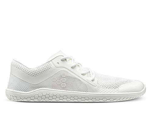 VIVOBAREFOOT Primus Lite Zapato transpirable para mujer, vegano, movimiento ligero, con suela descalza, color Blanco, talla 35.5 EU