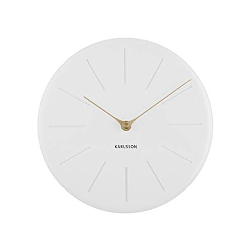 Karlsson - Wall Clock Sole Station - Polyresin - Weiss / Matt - (DxH) 25 x 4cm - Excl. Batterie