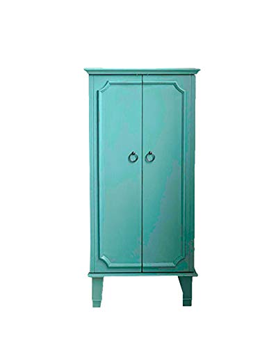 Hives and Honey 9006-349 Carson Fully Locking Jewelry Armoire, Large, Turquoise