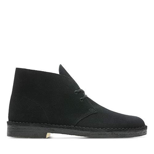 Clarks Originals Herren Desert Boots, Schwarz (Black Suede), 47 EU