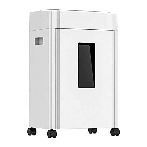 SFLRW Trituradora de papel de CrossCut de 8 hojas, trituradora para la oficina de origen en el hogar con una cesta de tiro de 20L y 4 ruedas, trituradora de tarjetas de crédito de alta seguridad anti-