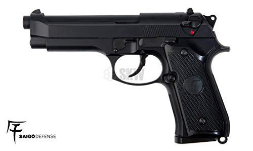 Saigo Airsoft Pistole Blowback 92 Halbautomatik Gas-Kulasse Mobile Leistung 0,5 Joule