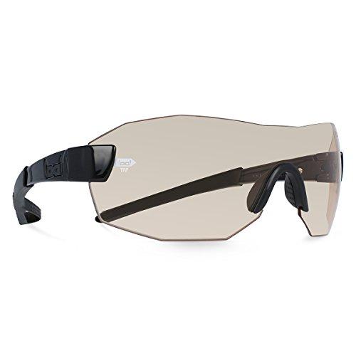 Gloryfy unbreakable eyewear (G9 RADICAL transformer energizer TRF) - Unzerbrechliche Sonnenbrille, Sport, Rahmenlos, Herren, Damen, Schwarz