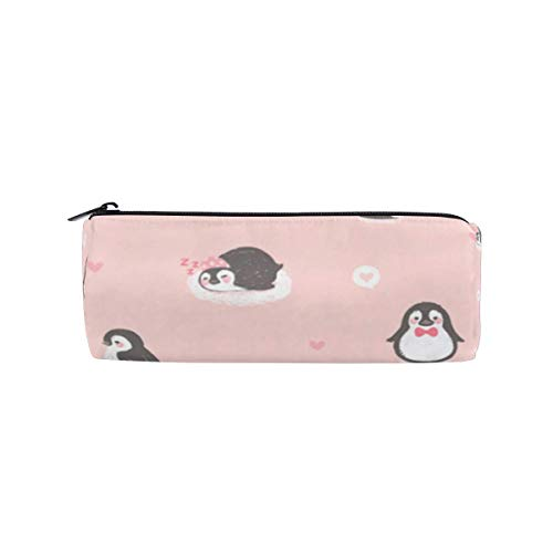 Bolsa de maquillaje cosmético Copa Penguin Pink Princess Estuche de lápices para...