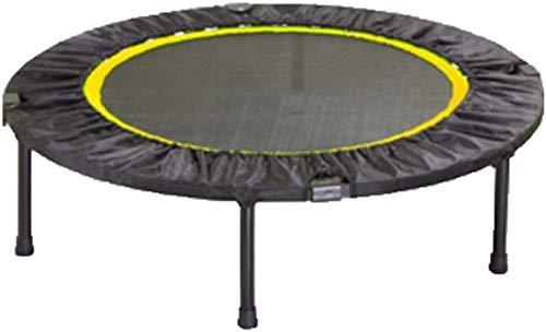 YUMUO Trampolín de ejercicio para interiores y fitness, mini trampolín plegable para trampolín redondo de resorte, para niños y adultos (color verde, tamaño: 40 pulgadas)