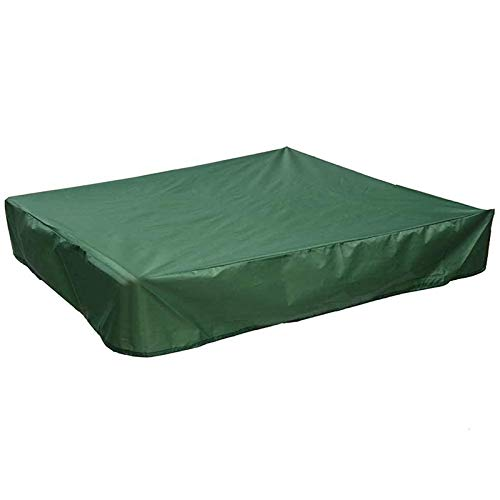 Luntus Sandbox Cover, Square Dustproof Sandbox Cover with Drawstring, Waterproof Sandpit Pool Cover, Green, 120 x 120cm