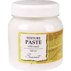 Sonnet Textur Paste auf Wasserbasis mit Sand 220ml | Textur Gel für Ölfarben, Acrylfarben, Tempera und Gouache | Hergestellt in Russland von Neva Palette