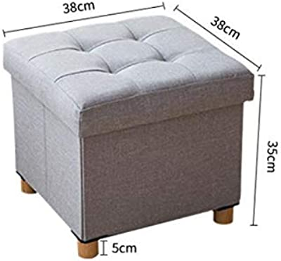 Amazon.com: Tufted Leather Square Flip Top Storage Ottoman ...