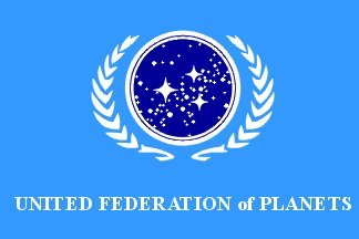 UB Fahne/Flagge Star Trek United Federation of Planets 90 cm x 150 cm Neuware!!!