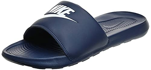 Nike Victori One Slide, Sandal Hombre, Midnight Navy/White-Midnight Navy, 45 EU