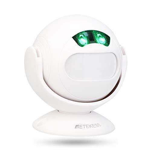 Retekess TD107 Detector de Movimiento DIY Timbre Infrarrojo Sensor Luz Nocturna Inalámbrico Alarma para Tienda Casa Carril Seguro Sistema de Alarma Blanco