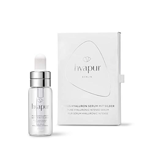 hyapur® - Hyaluron Serum PUR 5ml - Reinstes Hyaluronsäure Gesichts Serum mit Silber - zur Anti-Aging-Pflege mit Bio- Vegan- Natur- Kosmetik aus Berlin
