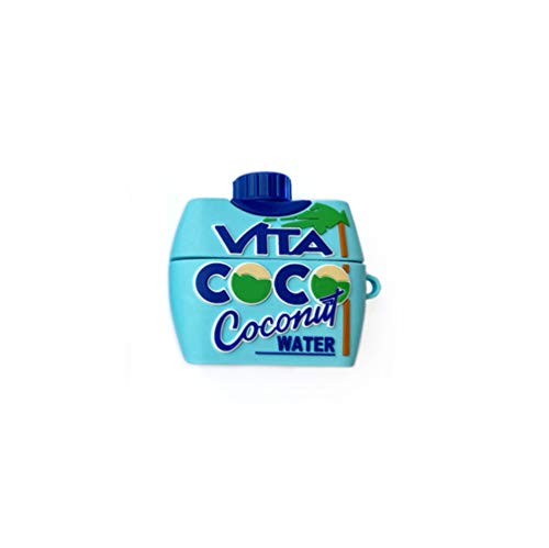 Chicya Süße Airpods-Hülle, Silikon 3D Fruchtsaftflasche, Lebensmittelhaut, Airpods-Zubehör, kompatibel für Apple Airpods 1 & 2, Pro für Mädchen und Jungen (blau (Airpods Pro))