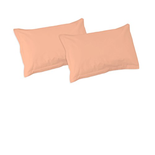 SoulBedroom Rosa Pfirsichfarbe 100% Baumwolle 2er Set Kissenbezüge 50x75 cm