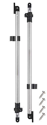 "Leader Accessories Adjustable Bimini Rear Support Poles Universal Marine Grade Aluminum Pole 1"" Diameter"