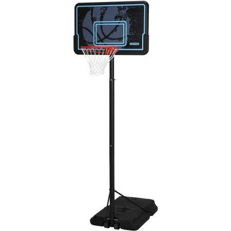 Basketball 44 Backboard System Portable Hoop Adjustable Rim Goal Court Spalding