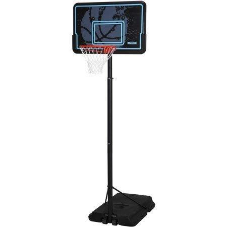 Basketball 44 Backboard System Portable Hoop Adjustable Rim Goal Court...