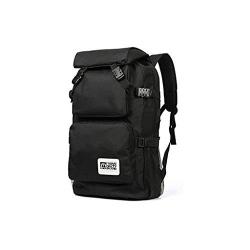 FCFC Sacco Avventura Campeggio, Viaggi e Trekking Grande Leggero Zaino Bag (Color : Black)
