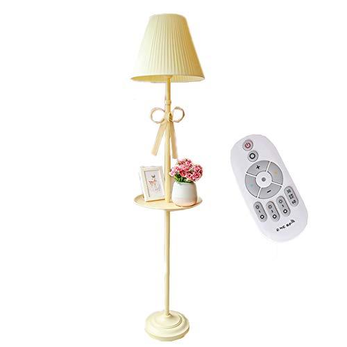 Floor lamp Warm Romantisch meisje Nordic Princess vloerlamp /'s slaapkamer kinderkamer/Creative Living Pink schaduw A + (met afstandsbediening),Yellow