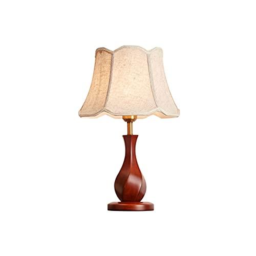 lámpara de escritorio Lámpara de mesa de madera maciza retro americana, lámpara de decoración de la sala de estar de la casa moderna, lámpara de noche con estilo elegante y cálido lámpara de mesa luz