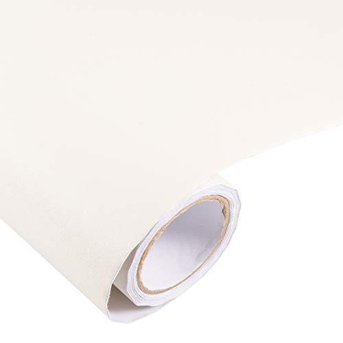 Peel and Stick Cream White Wallpaper Contact Paper 24' by 393' (Cream)