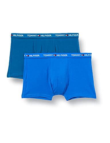 Tommy Hilfiger Jungen 2P Trunk Print Badehose, Electric Blue/Marina Blue, 14-16