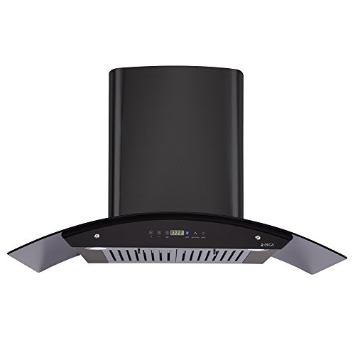 Elica Kitchen Chimney, Auto Clean, Touch Control with Baffle Filter 90 cm, 1200 m3/h (OSB HAC Touch BF 90 BK)