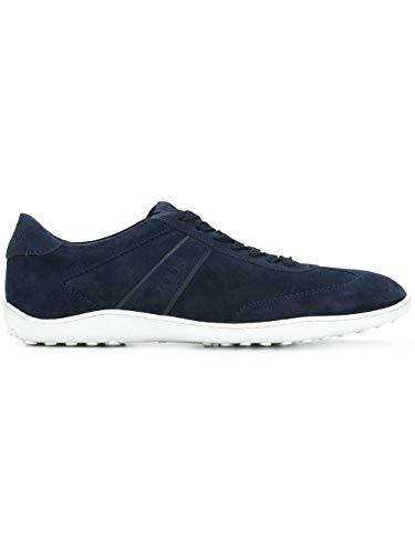 Tod's Luxury Fashion Herren XXM08A0S480RE0U820 Blau Wildleder Sneakers | Jahreszeit Permanent