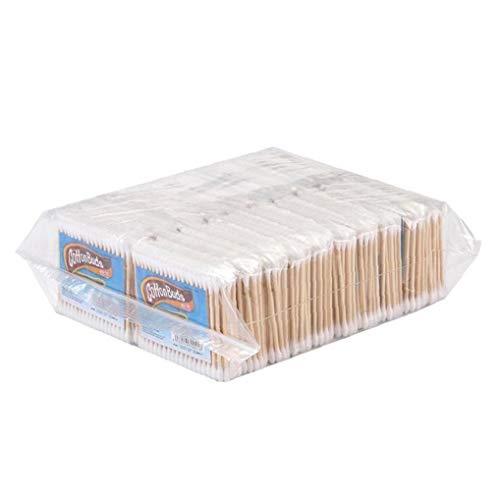BYFRI 10 zakken/sets van wegwerp houten wattenstaafjes dubbele tip schoon wattenstaafje olie make-up oren oogschaduw borstel tool baby en familie