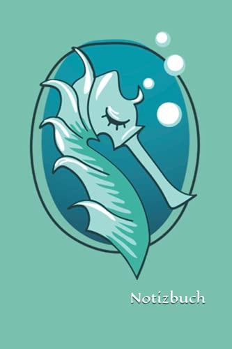 Notizbuch: Seepferd Notizbuch | 6x9 Zoll DIN A5 | 100 Seiten liniert | Aquarium Notizheft | Schwimmabzeichen Tagebuch | Meer Schreibheft | Schwimmen Geschenk