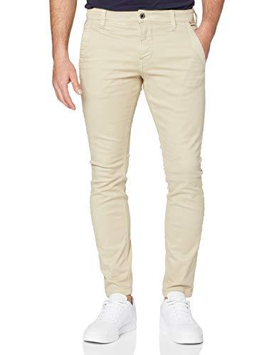 G-STAR RAW Skinny Chino Pantalones Informales, Khaki GD C106-b566, 33W / 32L para Hombre