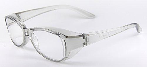 日本製 ズームシニアグラス メガネ型 拡大鏡 (グレー, 1.6倍)