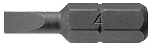 Tengtools bits, 25 mm, met 1/4 inch zeskant-inbussleutel, 0,6 x 4,5 mm