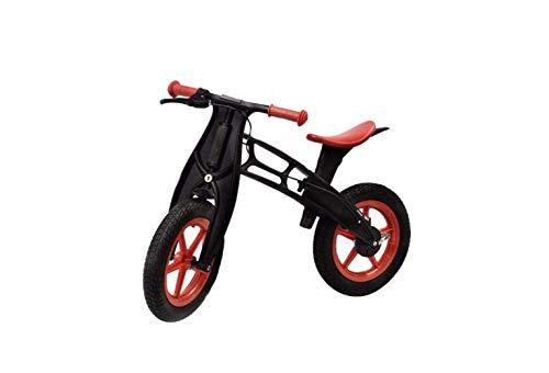 SEESEE.U Vélo de Montagne Casque Enfant vélo 2-6 Ans sans pédale vélo Enfant bébé Toboggan Voiture Enfant vélo de Montagne + Casque + genouillères, Noir, 84X37X55Cm