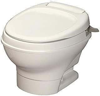 Thetford Parchment Aqua-Magic V RV Toilet-Low Profile Color-Hand Flush 31647