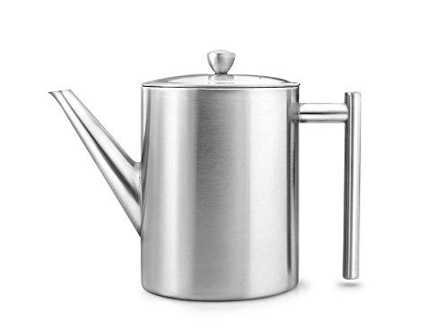 doppelwandige Teekanne Minuet® Cylindre Edelstahl matt gebürstet 1,2 ltr.