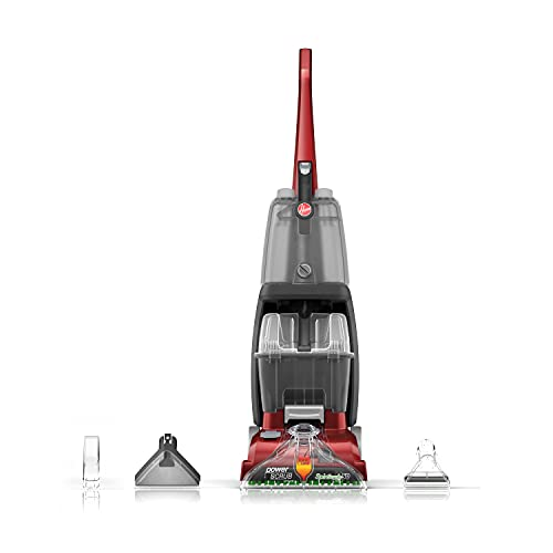 Hoover Power Scrub Deluxe Carpet Cleaner Machine, Upright Shampooer, FH50150, Red