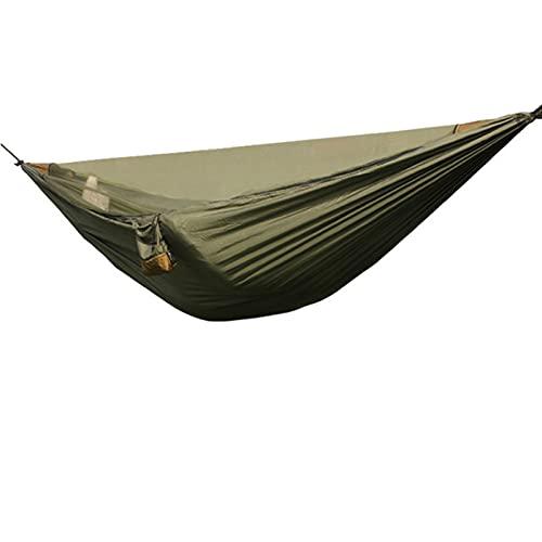 WYDMBH Hamaca Ultraligero Hamaca al Aire Libre con Senderismo Desmontable Neto Camping de Viaje 1-2 Persona Tienda Tienda de Patio Trasero Hamaca (Color : Army Green)