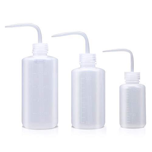 3 Stück Pflanzen Wasser Blume des Frischen Flasche Transpartent Spritzflasche Waschen Squeeze Flasche Waschflasche Kunststoff Quetschflaschen Squeeze Bottle Sprühflasche für Pflanzen 500ml 250ml 150ml
