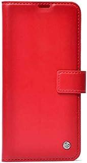 Zore 12501 Galaxy A51 için Kılıf Kar Deluxe Kapaklı, Kırmızı