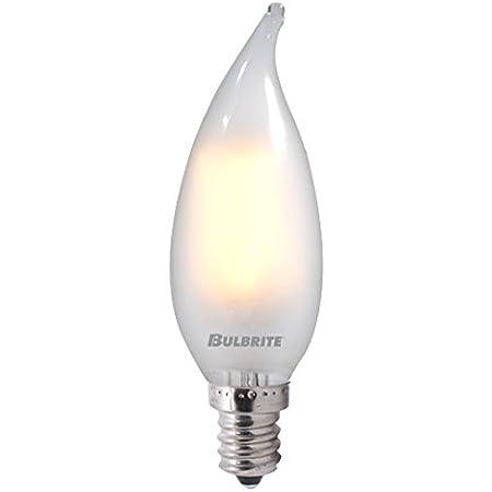 Bulbrite Led Filament Ca10 Dimmable Candelabra Screw Base E12 Light Bulb 40 Watt Equivalent 2700k Frost