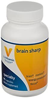 The Vitamin Shoppe Brain Sharp with AcetylLCarnitine, Phosphatidylserine B Vitamins for Memory, Focus, Energy Production (...