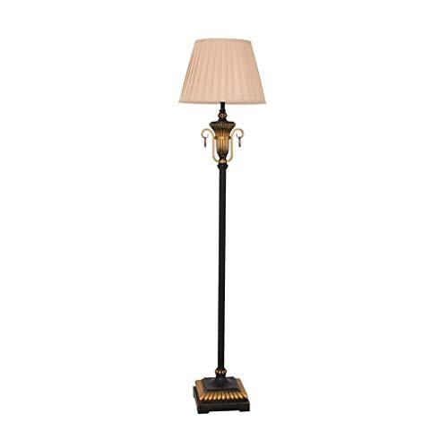 BINGFANG-W Dormitorio Inicio, Interruptor de la novedad del piso Light- Lámpara de tela americana retro cubierta de la lámpara de pie E27 Fuente de luz de hierro de estar Sala de Estudio Dormitorio De