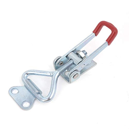 New Lon0167 Cupboard Metal Featured Lever Handle Toggle Reliable Efficacy Catch Latch Lock Clamp Hasp 3.3'(id:c28 76 cc 458)