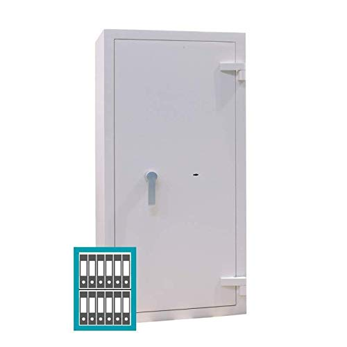 Sistec Wertschutzschrank EMI A 800/6, Doppelbartschloss mit 2 Schlüsseln, Grad 1 nach EN 1143-1, H80xB60xT50 cm, 170 kg