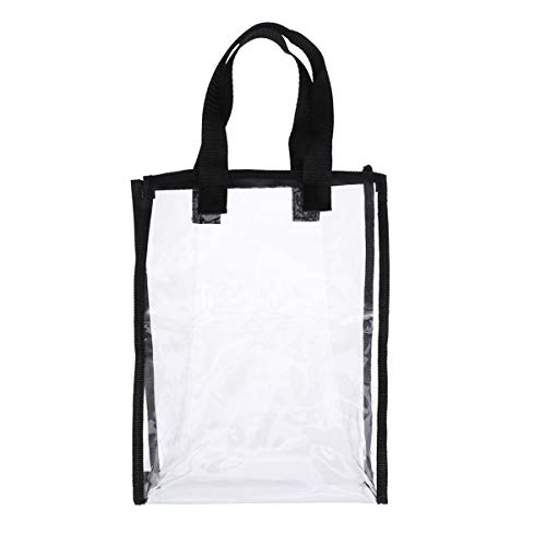 VORCOOL PVC klar handväska tygväska gym tygväska för kvinnor arbete, skola, sportspel och konserter klar väska
