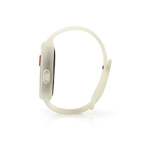 TronicXL Panikalarm 85dB Sirenen Armband am Arm Band Sirene - Wasserdicht - Blinkende LED + lauter Ton - Abwehr Sicherheit Security
