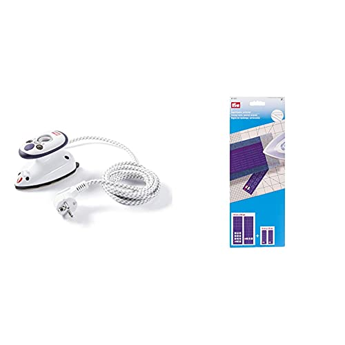 Prym Mini Ferro a Vapore & Righello da Stiro 611937, Confezione da 2